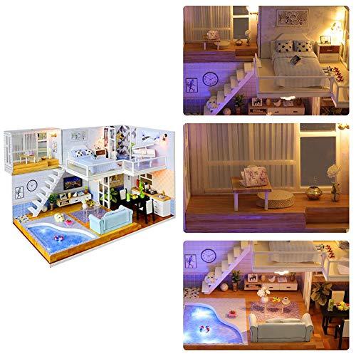 iBoosila DIY - Kit de casa de juguete, casita pequeña con movimiento musical, cumpleaños de Navidad