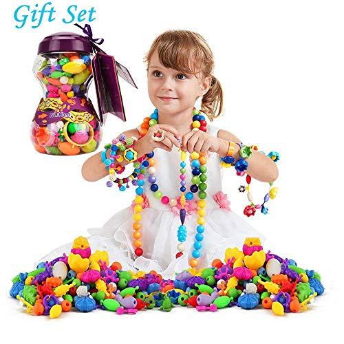 HANMUN 6635 Snap Pop Beads Girls Toy,...