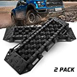 BUNKER INDUST Recovery Traction Boards Tracks Traction Mat for Off-Road Mud, Sand, Snow-2 Pcs Black Track Tire Ladder