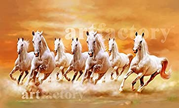 Art factory Vaastu Seven Horse Canvas Painting (Copyright Protected)