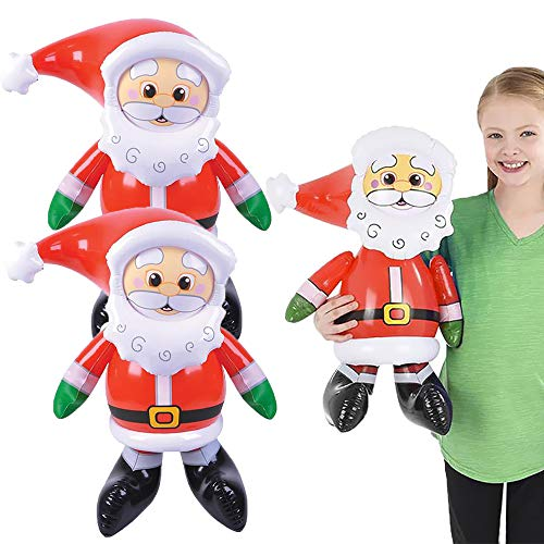 The Dreidel Company Christmas Santa Claus Inflate, 24' Tall, Perfect for Kids, Gatherings, Classroom Prizes, Event Decorations, Ideal Party Favors (2-Pack)