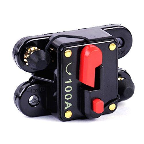beler Plus fusible en Ligne de disjoncteur Audio stéréo Marin Automatique de Bateau de la Voiture 12V DC 100A AMP