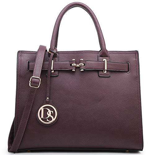 Dasein Women Satchel Purses Handbags Belted Top-handle Work Tote Shoulder Bags with Long Strap