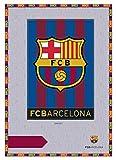 Asditex Manta Rachel F.C Barcelona 160x240 - Manta para Cama de 90 cm - Estampado Blaugrana con el Escudo del Barcelona