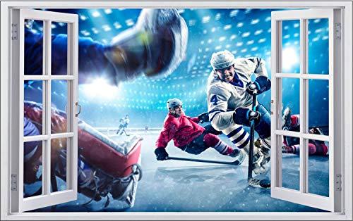 Eishockey Spieler Match Action Wandtattoo Wandsticker Wandaufkleber F1869 Größe 40 cm x 60 cm