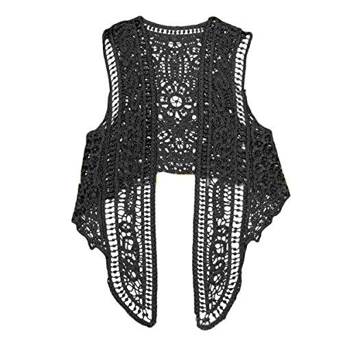 Adelina dames vest gilet haak hol kant elegante vintage hippie mode feestelijke kleding meisjes onregelmatig hem mouwloos top top cardigan outwear
