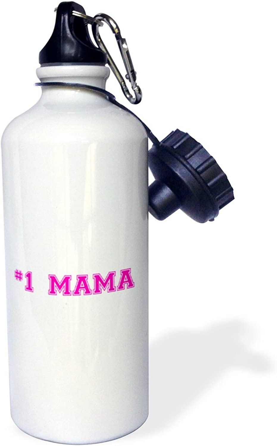 3dpink wb_151626_1  1 NeighborNumber One NeighborGifts for worlds Beste and greatest neighbors in the neighborhood  Sports Water Bottle, 21 oz, White