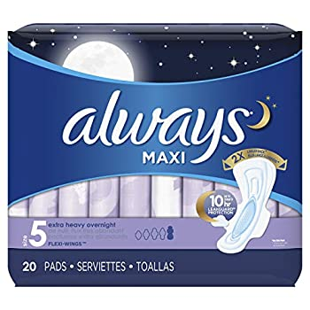Always Maxi Extra Heavy With Wings Overnight Pads 20 Each  Pack of 3