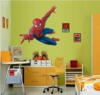 Huge Large Spiderman Wall Stickers Children Boys Bedroom Decal art Mural Decor