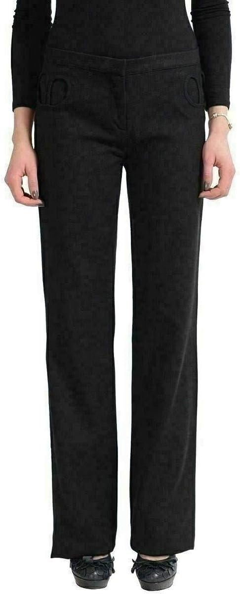 Versace Versus Women's Black Wool Casual Pants US 28 IT 42