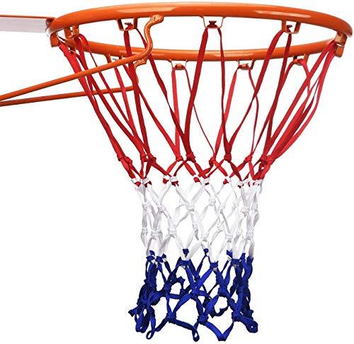 WENTS Profi Basketballnetz Basketball Ersatz Netz, Dauerhaft und Alle Wetter Ballnetz Für Standard Größe BasketballKorb, Netz für Basketballkorb Outdoor, 12 Schleifen 2 Stück