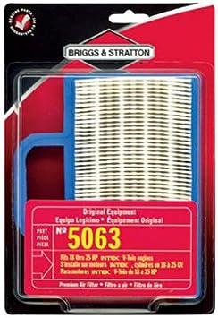 vhbw Filterset 1x Luftfilter, 1x Vorfilter passend f/ür Briggs /& Stratton 31A507-0137-G5 Motor f/ür Rasentraktor