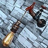 JLYDBD Appliques Murales Appliques Murales Vintage Industrielles Applique Murale Applique Murale Chambre À Coucher Vestibule Bar Café Escalier Robinet d'eau Tuyaux en Fer Forgé E27 * 1