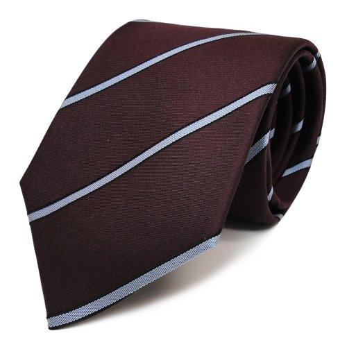 Mexx Seidenkrawatte in bordeaux rot blau schwarz gestreift - Krawatte Seide