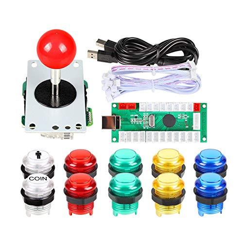 Arcade Buttons EG STARTS 1 Player DIY Kit Joystick 5V LED Arcade Button for Arcade Stick PC Games Mame Raspberry pi