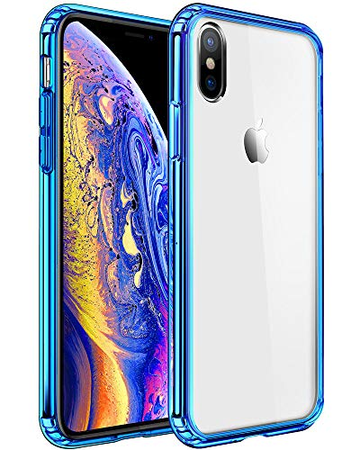 Mkeke Compatible with iPhone Xs Case,iPhone X Case, Anti-Scratch Shock Absorption Cover Case iPhone Xs/X Blue
