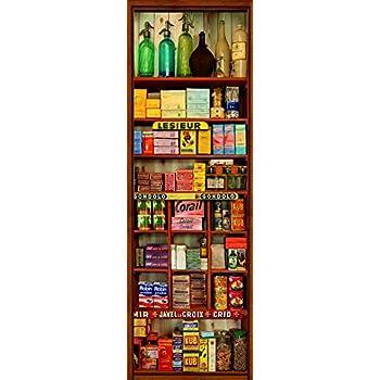 Motif Magasin dalimentation Multicolore Vinyle 180/x 0,1/x 59,5/cm Plage 162259/Poster Autocollant pour Cuisine et r/éfrig/érateur