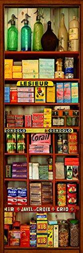 DECORATION adhésive pour CUISINE et réfrigérateurs Epicerie Autocollant, Polyvinyle, Multicolore, 59,5 x 0,1 x 180 cm