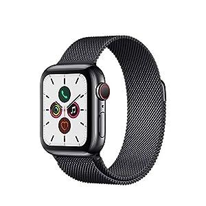 Apple Watch Series 5(GPS + Cellularモデル)- 40mmスペースブラックステンレススチールケースとスペースブラックミラネーゼループ