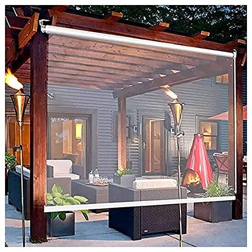 GZHENH Persianas Enrollables Transparentes, Pabellón Cortina De Partición De Balcón Resistente Al Viento Y A La Lluvia Sin Perforaciones Panel Lateral Impermeable Transparente