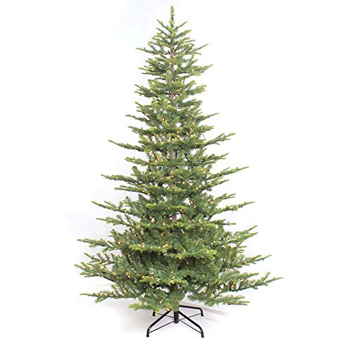 Puleo International 7.5 Foot Pre-Lit Aspen Fir Artificial Christmas Tree with 700 UL Listed Clear...