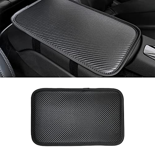 8sanlione Leather Center Console Cushion Pad, 11.4'x7.4' Waterproof Armrest Seat...