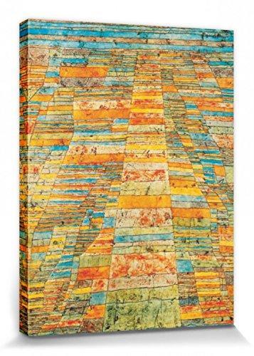 1art1 Paul Klee - Hauptweg Und Nebenwege, 1929 Bilder Leinwand-Bild Auf Keilrahmen | XXL-Wandbild Poster Kunstdruck Als Leinwandbild 80 x 60 cm