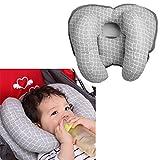 Almohada de Bebé Soporte para Cabeza y Cuello - Cojín para Asiento de Coche de Bebé Niño de la Correa de Cuello Protección, Gris