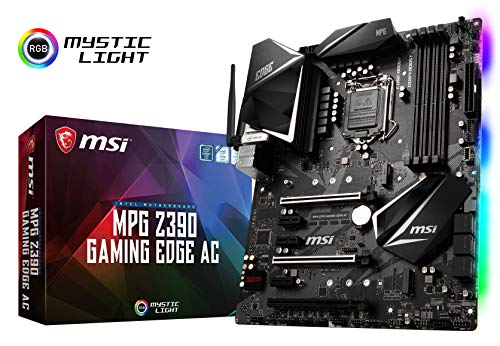 MSI MPG Z390 Gaming Edge AC LGA1151 (Intel 8th and 9th Gen) M.2 USB 3.1 Gen 2 DDR4 HDMI DP Wi-Fi SLI CFX ATX Z390 Gaming moederbord