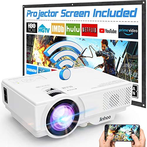 Wifi Projector, Projector 6000 Lumen With Projector Screen, 1080P Full HD...