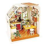 ROBOTIME Exquisite DIY House Miniature Dollhouse Kits Kitchen Room Birthday