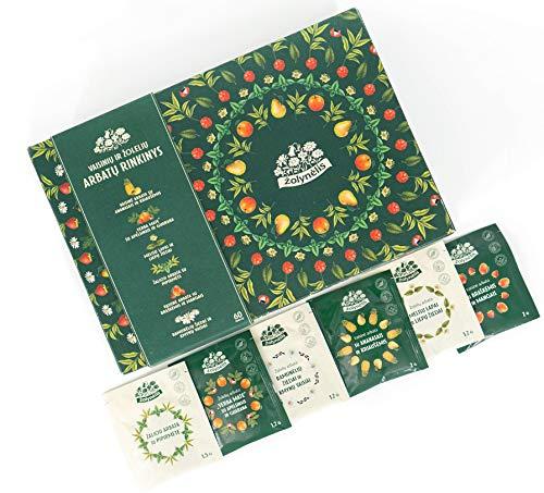 ACORUS Wiese - Frucht- und Kräuter Tee Set in sechs verschiedenen Geschmacksrichtungen (60 Teebeutel)