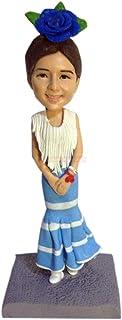 traje tradicional español mujer pequeña estatua figuritas de bobblehead personalizadas Esculturas 3D personalizadas a medi...