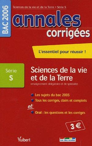 Sciences de la Vie et de la Terre Enseignement obligatoire et de spécialité Bac Série S