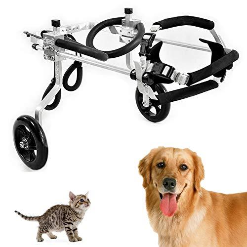 CoraStudio Hund Rollstuhl für Hintere Füße, Hunderollstuhl 2 Rad, Rollstuhl für Katze Hund Hase Tier, Gehhilfe Hundegehilfe Rollwagen Hunderollwagen, Postoperative Reparatur, Komplette Größe,XXS-03