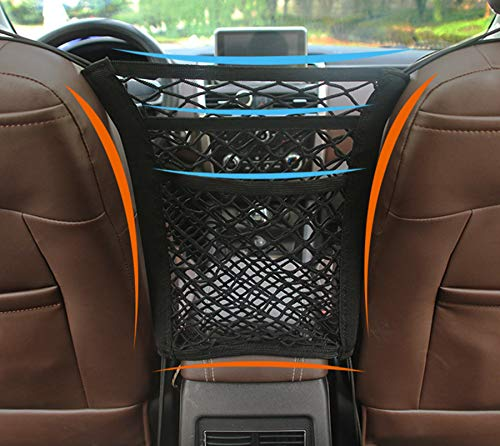 Synchain Kofferraum Netztasche,Auto Netz,Universal Netztasche mit Klettverschluss Autositz Kofferraumnetz Kofferraum Netz Organizer für Universal Auto/SUV Kofferraum Gepäcknetz aus Nylon (B)