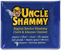 Chamois Cleaning Towels 3 Pack, Mini - 5 1/4 X 5 3/4 Shammy Cloths Convenient Size to Clean Smudges, Fingerprints and Grime From Your Cellphone, Sun/eyeglasses, Mobile Glass, Laptops, Small Mirrors, and More. Comes in a Reusable Carry Pouch. by Uncle Shammy