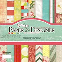 """Eno Greeting Paper Pep Pattern Paper Book 7"""" X 7"""" Flowers"""
