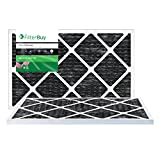 carbon ac filter - FilterBuy Allergen Odor Eliminator 20x30x1 MERV 8 Pleated AC Furnace Air Filter with Activated Carbon - Pack of 2 - 20x30x1