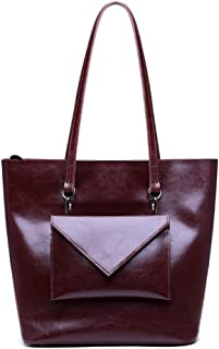 Runhuayou New Fashion Elementary Multi-Function Tumid Capacity Shoulder Bag Shoulder Slung Leather Handbag Great for Casual or Many Other Occasions Such (Color : Purple)