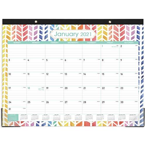 "2021 Desk Calendar - Large Desk Calendar 2021, 22"" x 16.8"", Jan 2021 - Dec 2021, 12 Months Planning, Large Ruled Blocks, Desk/Wall Calendar for Planning and Organizing"