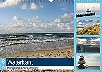 Waterkant - Impressionen einer Sehnsucht (Wandkalender 2022 DIN A2 quer): Stimmungsvolle Bilder von Nord- und Ostsee (Monatskalender, 14 Seiten )