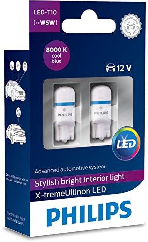 Philips 12799I80X2 X-tremeUltinon LED luz interior para coche W5W T10 8000K 12V, 2 unidades