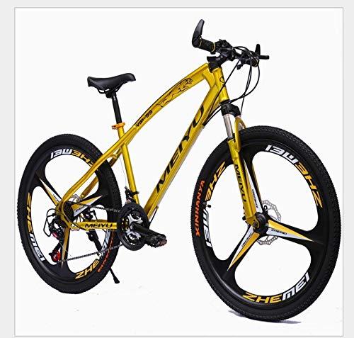 YXWJ MTB de la bicicleta for los hombres de 26 pulgadas de bicicletas de montaña camino de la bicicleta de carreras de montaña velocidad variable bicicletas unisex neumático de carreras for el coche E