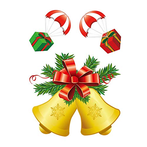 Absir Christmas Santa Claus/Snowman/Elk Glass Sticker Window Decoration 10#