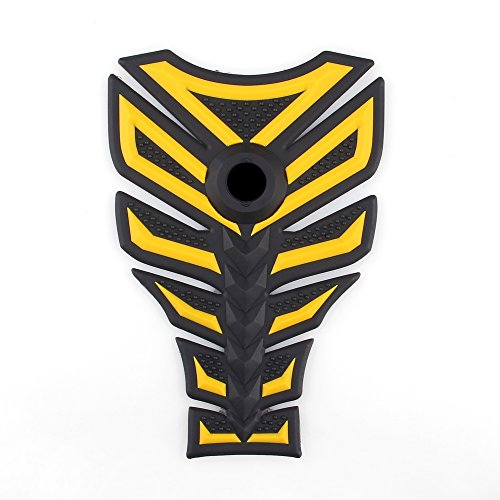 Areyourshop 3D Rubber Tank Pad Protector Gas Motorcycle Fit For Honda CBR 600 900 Yellow