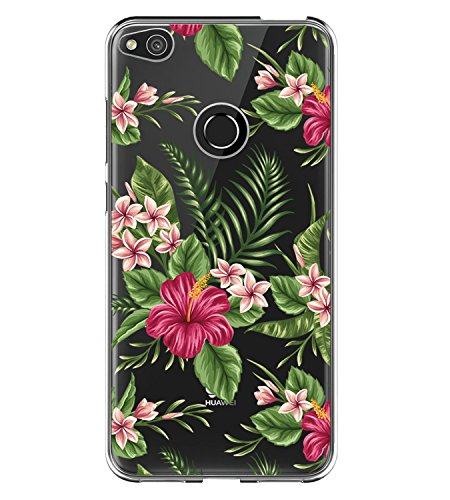 Carcasa para Huawei P8 Lite 2017, Huawei P9 Lite 2017, Funda Transparente de Silicona TPU, Carcasa Trasera, Flores, Flores, Flores, Flores, protección para teléfono móvil