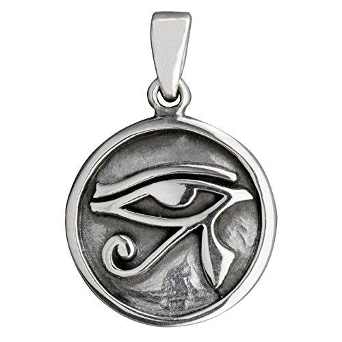 Ciondolo in argento Sterling 925 con occhio di Horus Ra egizio 5,2 g, con marchio BELDIAMO