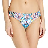Red Carter Women's Beauty & The Beach Reversible Side Tie Cali Hipster Bikini Bottom, White/Multi, M