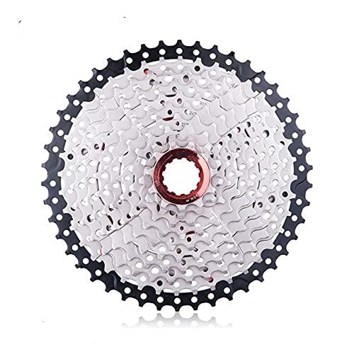 Cassetta per Bicicletta MTB 10 velocità 11-46T Wide Ratio Ultralight Ruota Libera per Mountain Bike Pignone per 10v 46t K7 Argento Nero Cassette